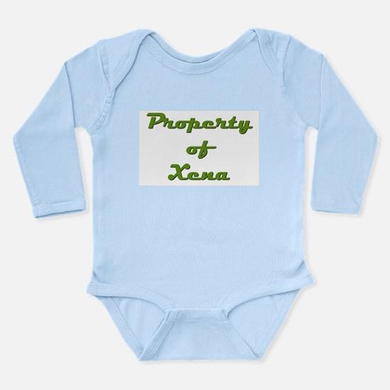 Property Of Xena Female Long Sleeve Infant Bodysui
