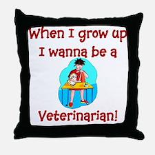 I Wanna Be A Vet Throw Pillow