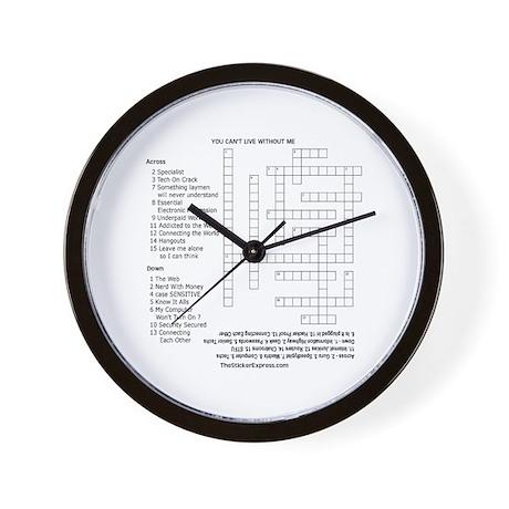 Geeks Crossword Puzzle Wall Clock