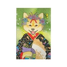 Maiko Shiba Inu Rectangle Magnet