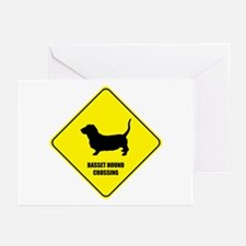 Basset Crossing Greeting Cards (Pk of 10)