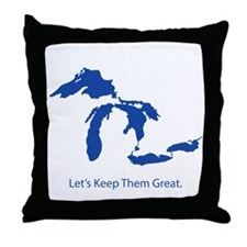 Let's Keep Them Great Throw Pillow
