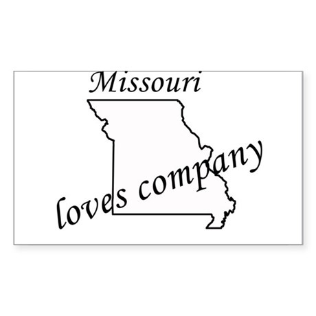 Missouri loves company Rectangle Sticker