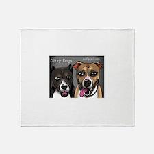 Ditzy Dogs cartoon Throw Blanket