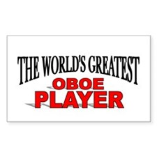 """""""The World's Greatest Oboe Player"""" Decal"""