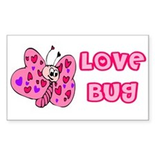 Love Bug Rectangle Decal