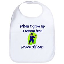 I Wanna Be A Police Officer Bib