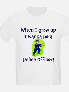 I Wanna Be A Police Officer Kids T-Shirt