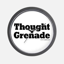 Thought Grenade Wall Clock