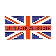 221B union jack Aluminum License Plate