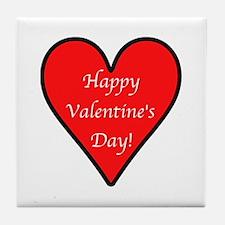 Valentine's Day Heart Tile Coaster
