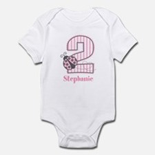 Personalized Pink Ladybug 2nd Birthday Infant Body