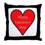 Valentine's Day Heart Throw Pillow