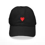 Valentine's Day Heart Black Cap
