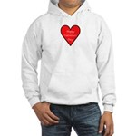 Valentine's Day Heart Hooded Sweatshirt