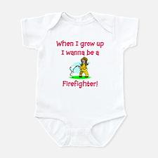 I Wanna Be A Firefighter Infant Bodysuit