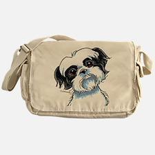 B/W Shih Tzu Art Messenger Bag