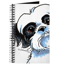 B/W Shih Tzu Art Journal