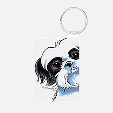 B/W Shih Tzu Art Keychains