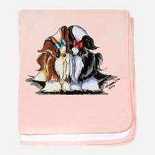 Two Shih Tzu baby blanket