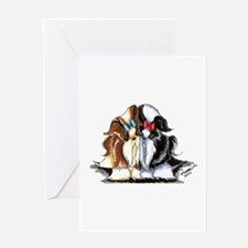 Two Shih Tzu Greeting Card