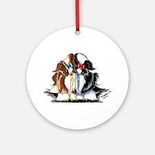 Two Shih Tzu Ornament (Round)