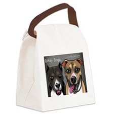 Ditzy Dogs cartoon Canvas Lunch Bag