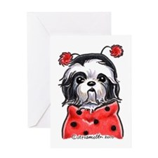 Shih Tzu Ladybug Greeting Card