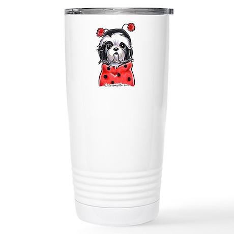 Shih Tzu Ladybug Stainless Steel Travel Mug
