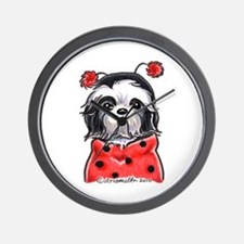 Shih Tzu Ladybug Wall Clock