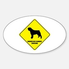 Bouvier Crossing Oval Decal
