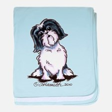 Shih Tzu Sit Pretty baby blanket