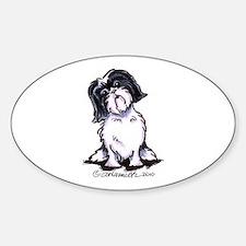Shih Tzu Sit Pretty Sticker (Oval)