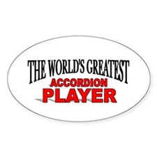"""The World's Greatest Accordion Player"" Decal"