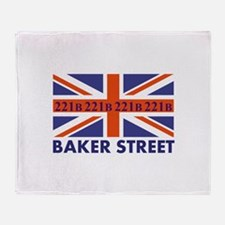 221B Union Jack Throw Blanket