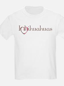 I Heart Chihuahuas Kids T-Shirt