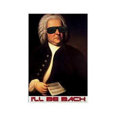I'll Be Bach Rectangle Magnet (100 pack)