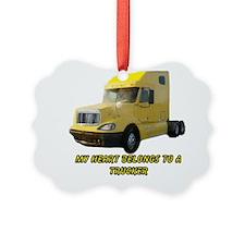 Yellow Truck Ornament