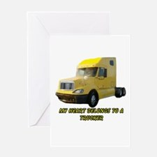 Yellow Truck Greeting Cards