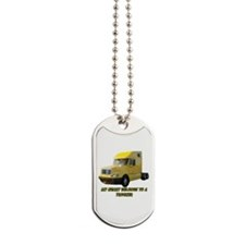 Yellow Truck Dog Tags