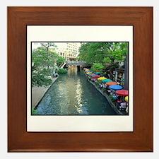 San Antonio Riverwalk Framed Tile