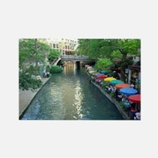 San Antonio Riverwalk Rectangle Magnet