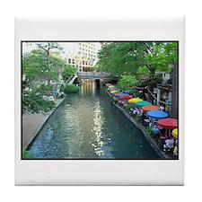 San Antonio Riverwalk Tile Coaster