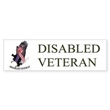 Disabled Veteran Eagle And Ribbon Bumper Sticker