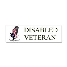Disabled Veteran Eagle And Ribbon Car Magnet 10 X