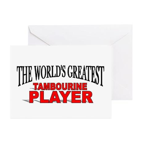 """The World's Greatest Tambourine Player"" Greeting"