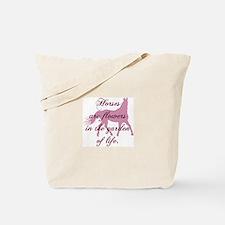 Horse Flowers Tote Bag