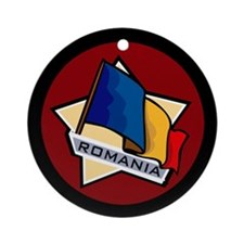 """Romania Star Flag"" Ornament (Round)"