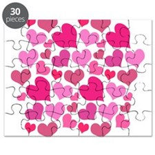 Pink Love Hearts Puzzle