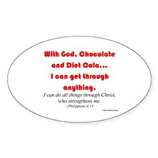 With God...Oval Decal